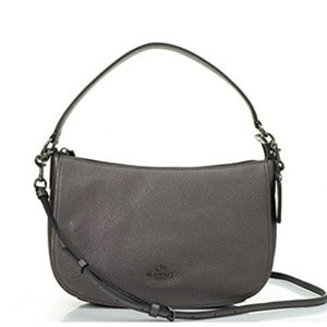 Coach Chelsea Polished Pebbled Antique Nickel Meta